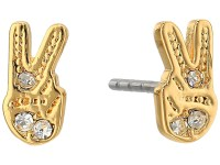 Rebecca Minkoff Peace Sign Stud Earrings at Zappos.com