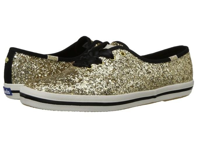 Keds x kate spade new york - Champion (Gold Glitter) Women's Shoes