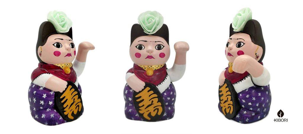 Kibori Design - Kiborinekos, maneki-nekos, o gatos japoneses de la suerte, personalizados para regalar creados por Silvia Mollat, como Frida Kahlo entre otros