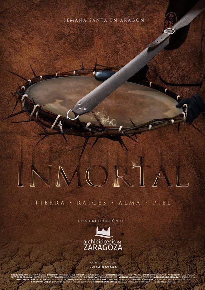 Lorenzo Cortés - Cartel del cortometraje 'Inmortal', ganador de dos Delfines en el Festival de Cannes