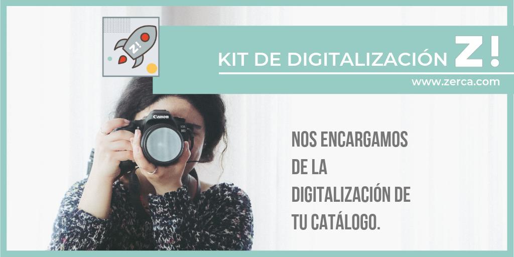 Kit de digitalización zerca, ellos se encargan de la digitalización de tu catálogo de productos