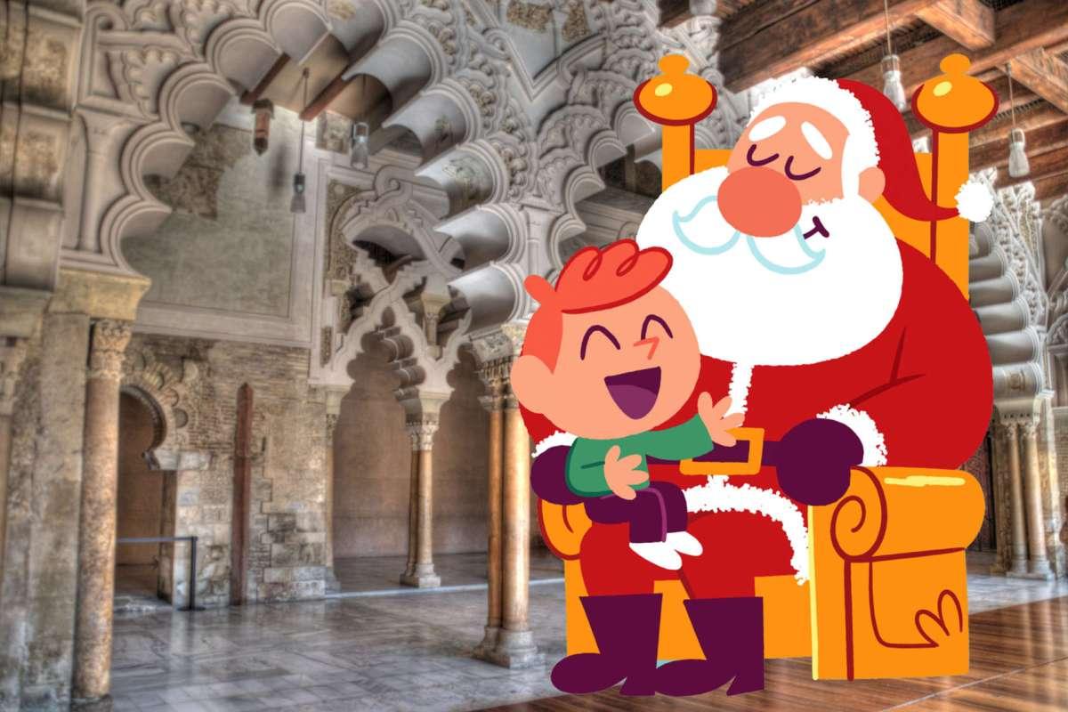 Papá Noel en la Aljafería