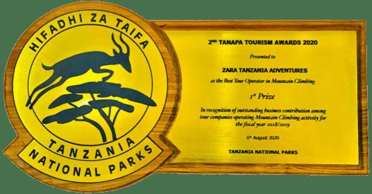 TANAPA TOURISM AWARDS 2