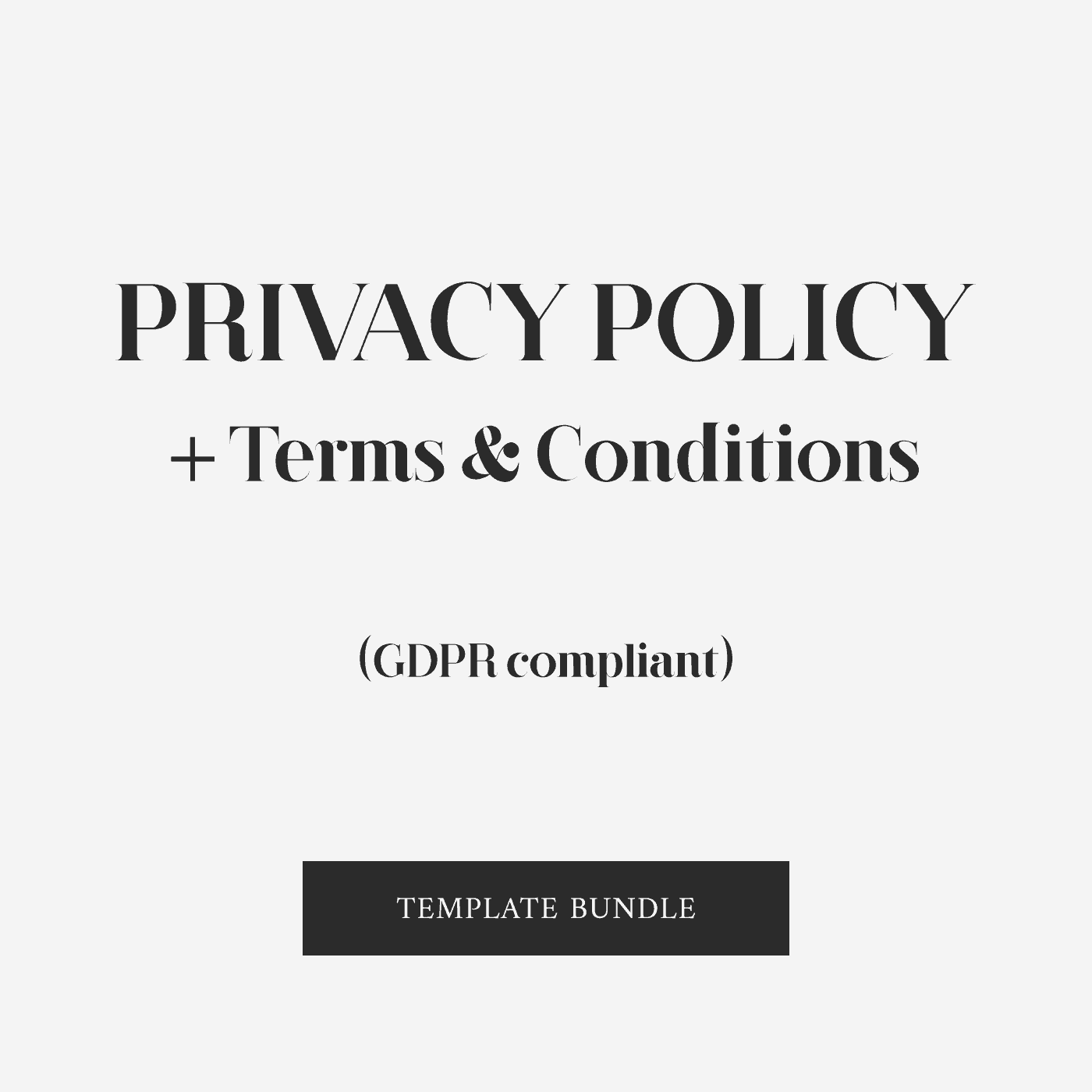 Privacy Policy Terms Amp Conditions Bundle Gdpr Compliant