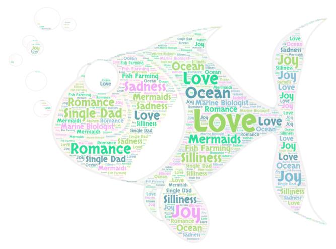 Hooked on Love Word Art by Zara West