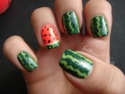 nail design scream summer