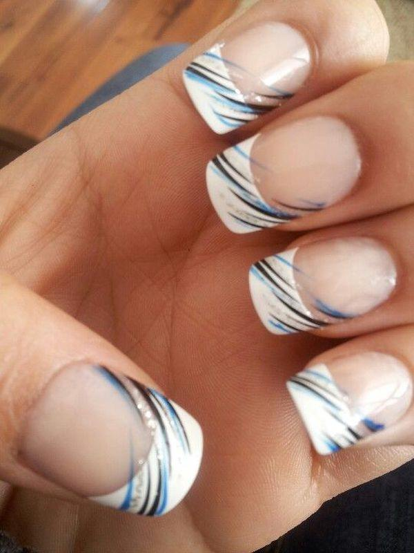 French Tip Nail Design With A Cute Bow