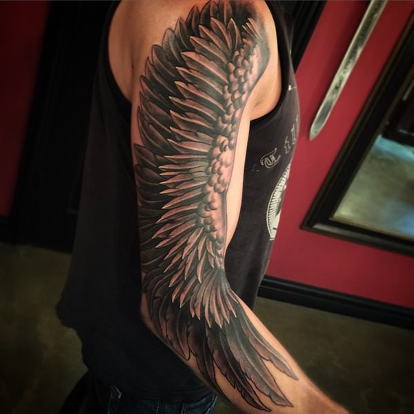 of sexy angel wing tattoos