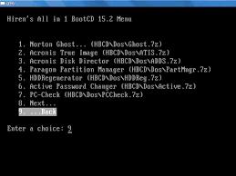 تحميل Hirens BootCD أفضل أسطوانات صيانة وإقلاع  الكمبيوتر و  تصليح القرص الصلب