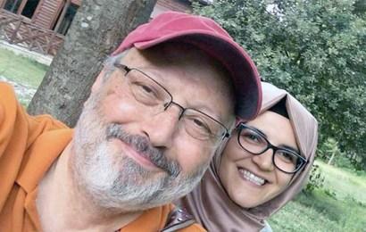 جمال خاشقجي و خطيبته خديجة جنكيز