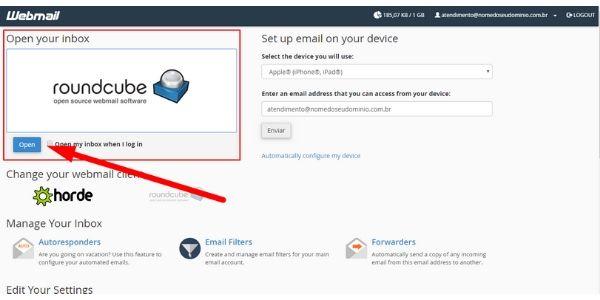 webmail roundube cpanel