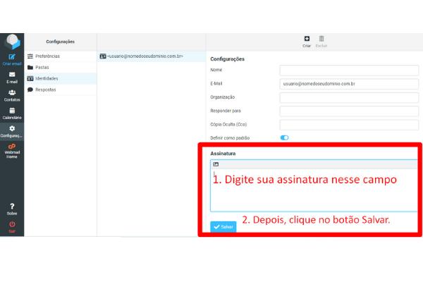 Configurando Assinatura de Email no Roundcube Cpanel 3