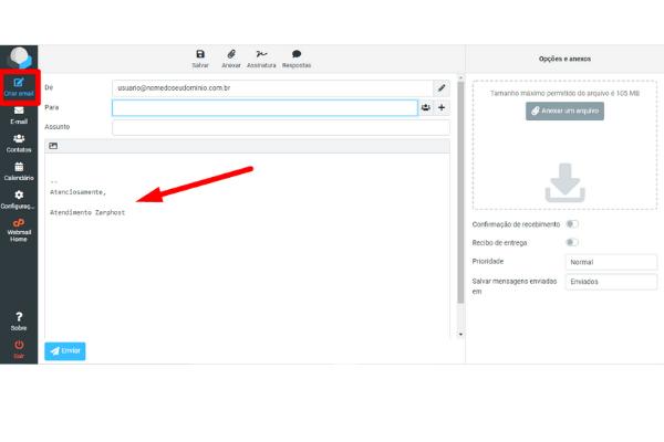 Configurando Assinatura de Email no Roundcube Cpanel 4