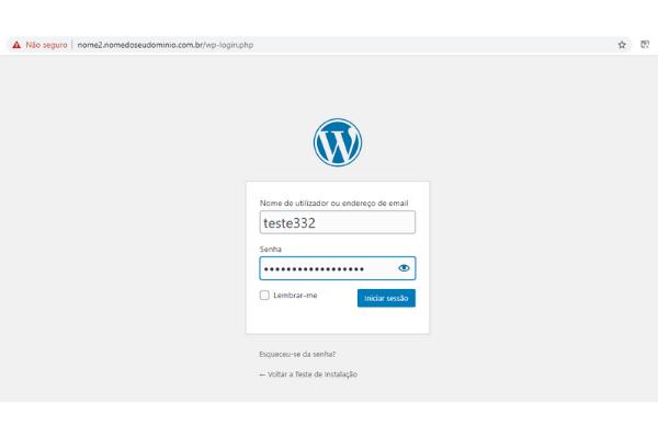 acessando o wordpress instalado 7