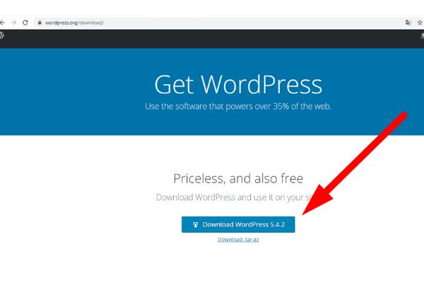 como fazer download do wordpress no cpanel - site oficial wordpress