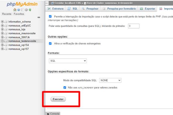 importar-banco-de-dados-phpmyadmin-executar