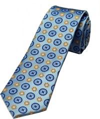 Zarrano Ties - Blue/Yellow Geometric Tie