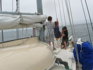 a good swing on the halyard