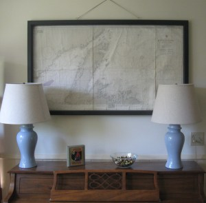 Old Nautical Chart Art