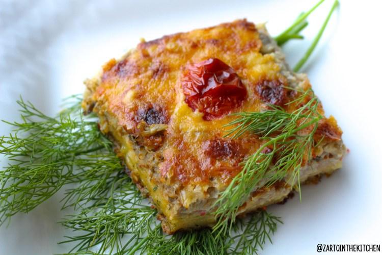Ovenschotel met aubergine en aardappel