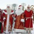 Santas in different countries wallpapers and images wallpapers