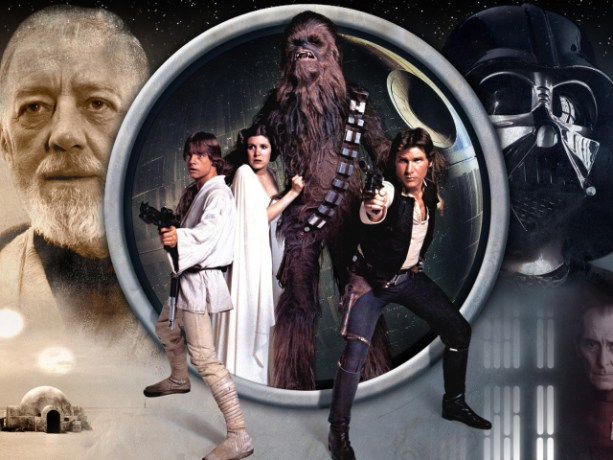 The heroes of the movie Star Wars. Episode IV A New Hope