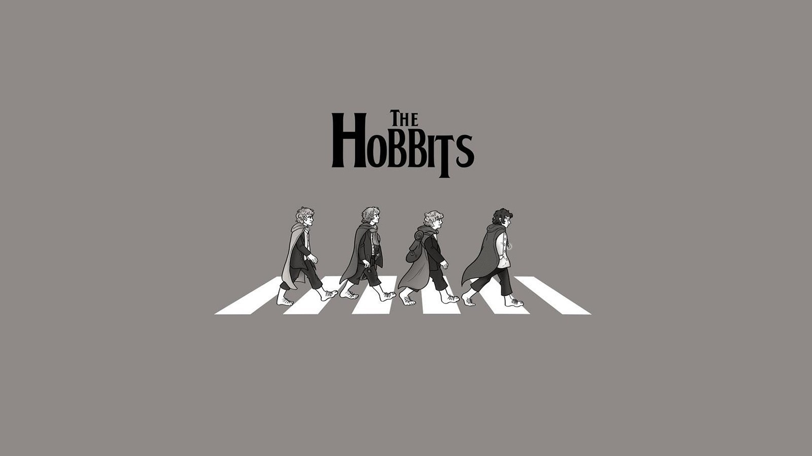 Hobbits on a pedestrian crossing wallpapers and images