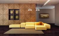 Composite yellow sofa wallpapers and images - wallpapers ...