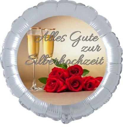 Folienballon Alles gute zur silbernen Hochzeit