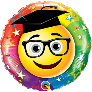 Folienballon Abitur Glückwunsch Smiley