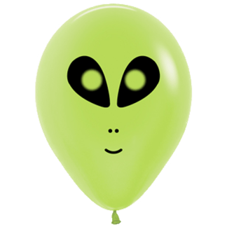Ballon Alien Gesicht Lime Green