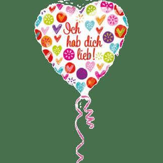 Folienballon Ich hab dich lieb
