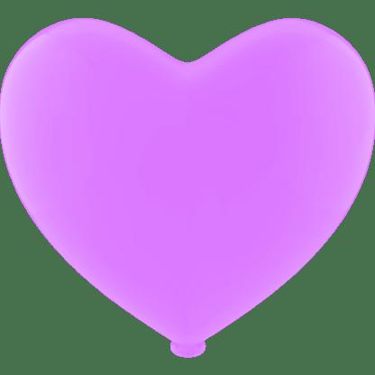 Herz - Ballon Farbe Flieder