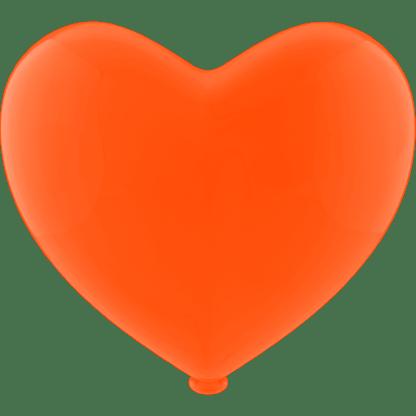 Herz - Ballon Farbe Orange