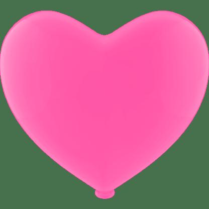 Herz - Ballon Farbe Fuchsia