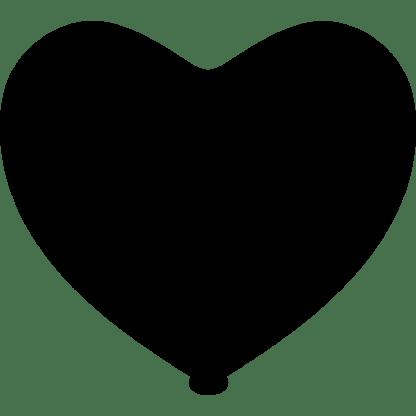Herz - Ballon Farbe Schwarz