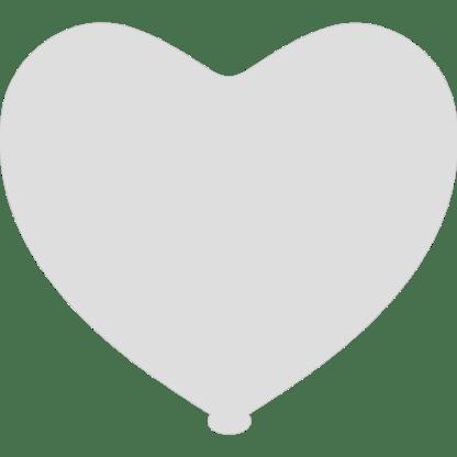 Herz - Ballon Farbe Weiss