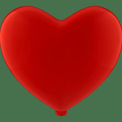 Herz - Ballon Farbe Rot