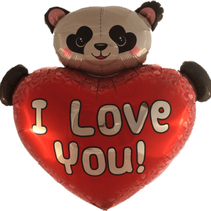 Folienballon Love Liebe Panda Bär Heliumballon Ballon Qualatex