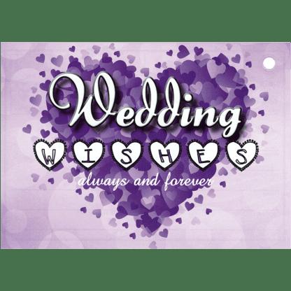 Ballonkarte always forever Wedding Wishes