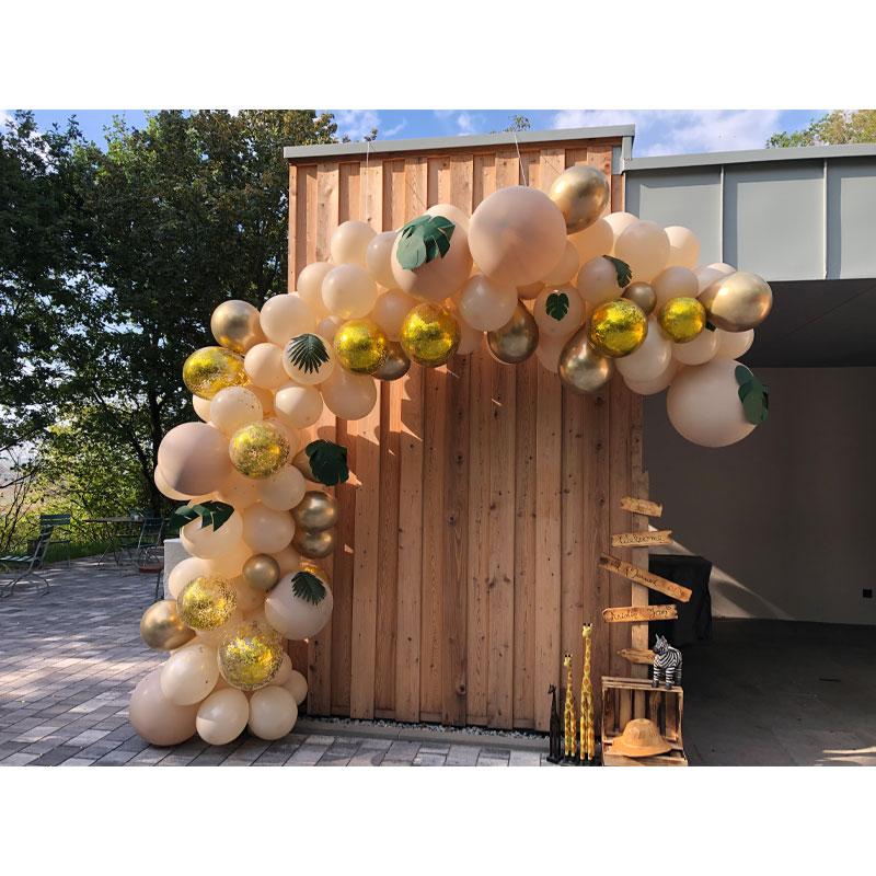 Ballongirlande Hochzeit Organics unfoermig Saarland Rheinland Pfalz