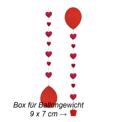 Ballon Hänger Tails Love 3er Pack