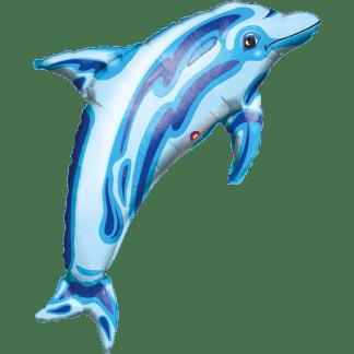 Folienballon heliumballon Delfin Delphin Blau