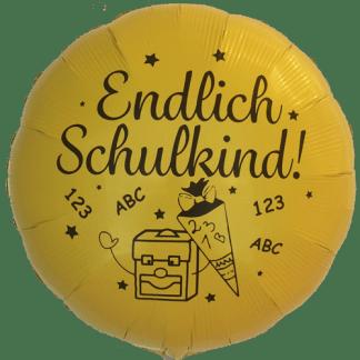 Folienballon Einschulung Schulanfang Heliumballon Ballon Gelb