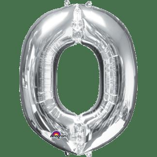 Buchstabe O Silber Ballon Heliumballon