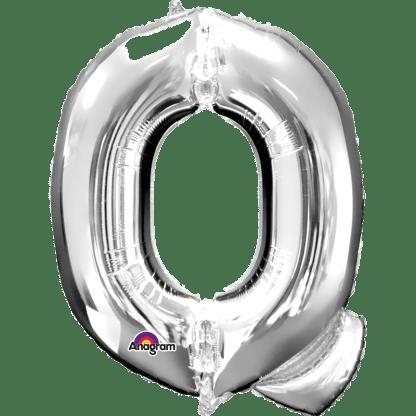 Buchstabe Q Silber Ballon Heliumballon