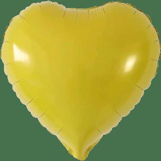 Folienballon Herz Gelb Hochzeit