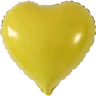 Folienballon Gelb Herz