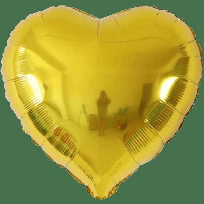 Folienballon Metallic Gold Herz