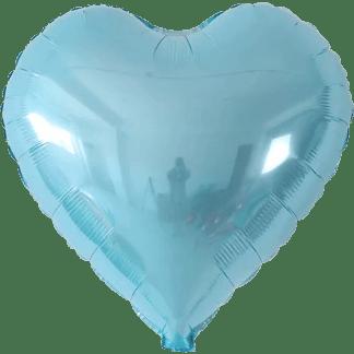 Folienballon Metallic Hellblau Herz